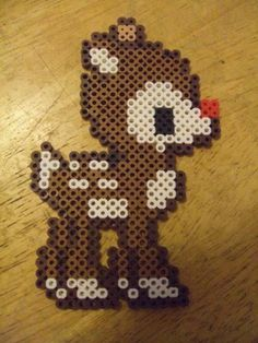 Christmas Rudolph perler beads by virginiagina on deviantART