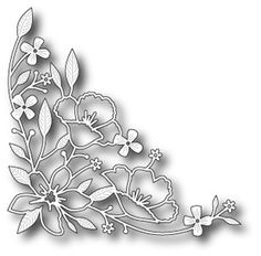 Memory Box - Die - Wildflower Corner-Measures: x in. Silhouette Cameo, Paper Art, Paper Crafts, Pot Pourri, Memory Box Dies, Free To Use Images, Scroll Saw Patterns, Kirigami, Colorful Flowers
