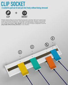 [신개념콘센트]클립으로 간단히 연결하는 콘센트와 플러그 'Clip Socket'
