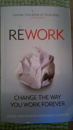 Read it fith-time - classic book to change the way you work!