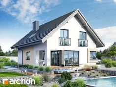 Projekt domu Dom w zdrojówkach - ARCHON+ Steel Frame House, Attic Rooms, Home Fashion, Traditional House, Bungalow, Farmhouse, Mansions, Architecture, House Styles