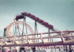 The Whirlwind Rollercoaster on the Pier at Clacton-On-Sea Essex England in 1982