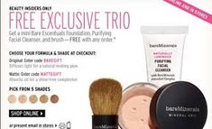 Image result for example of promotional materials Bare Escentuals, Sale Promotion, Beauty Inside, Diffused Light, Bareminerals, Facial Cleanser, Hue, Foundation, Eyeshadow