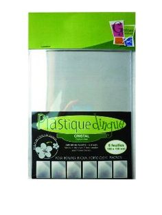 PW International - Plastique dingue cristal, sachet de 6 feuilles de 100 x 130 mm, 3 ans et plus