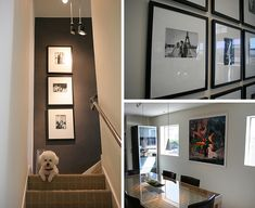 Ralph Lauren gray suede paint accent walls ~~~Photos my stairway Loft Design, Neutral Furniture, Staircase Layout, Suede Paint, House Design, Small House Decorating, Pretty Furniture, Home Decor, Small Hallways