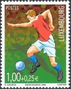 Sello: Football (Luxemburgo) (Sport) Mi:LU 1657,Sn:LU B444,Yt:LU 1606,WAD:LU019.04