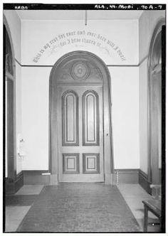 Cloister door (1930s) at Mobile Visitation Monastery (National Archives).