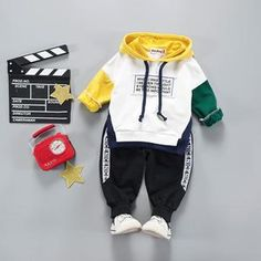 Children Clothing 2019 Spring Winter Girls Clothes Outfit Kids Clothes For Boys Sport Suit For Toddler Girls Clothing Sets Baby Outfits, Toddler Boy Outfits, Kids Outfits, Cute Outfits, Toddler Suits, Toddler Boys, Baby Boys, Infant Toddler, Costume Garçon