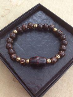 Patikan wood beads men's bracelet made by Djoelsz