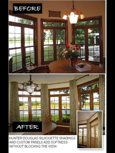 Softness added to the windows without blocking the view!