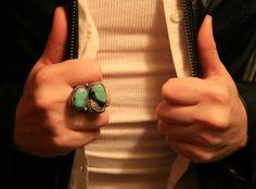 Vintage Turquoise Ring by BrandosFunkyFinds