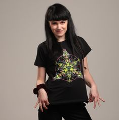 is Slovak rave brand with psychedelic, futuristic and cyberpunk features, energized by UV active colours. Psytrance Clothing, Psy Art, Black Lightning, Raves, Rave Outfits, Alternative Fashion, Robot, T Shirts For Women, How To Wear