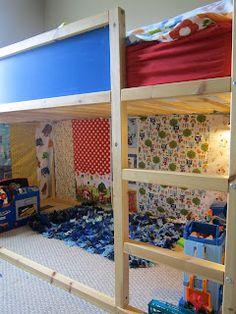 Tutorials Crafts Projects Kids Children Handmade: DIY Curtains for our New Kura Loft Bed