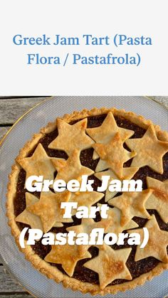 Greek Desserts, Greek Recipes, Pie Dessert, Dessert Recipes, Yummy Treats, Yummy Food, Jam Tarts, Baked Alaska, Boston Cream Pie