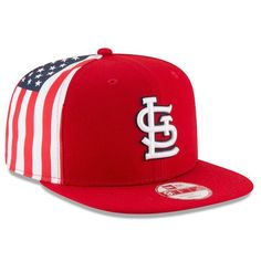 St. Louis Cardinals New Era Flag Side Original Fit 9FIFTY Snapback Adjustable Hat - Red - $27.99