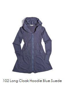 Prairie Underground, Long Cloak Hoodie, Blue Suede, Pre-Order