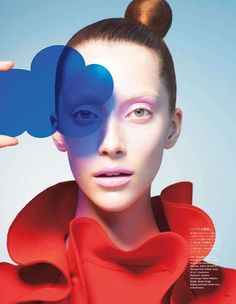 Pop Art Pictorials - 'Form & Color' from Vogue Japan. Bold editorial