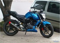 Yamaha Fz16 Azul modificada Yamaha Fz, Cool Motorcycles, Motorbikes, Harley Davidson, Cars, Vehicles, Jeeps, Blue Nails, Toys