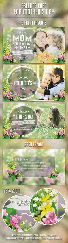 Greeting Card for Mother's Day is a fresh unique greeting card with modern classy style suitable to celebrate mother's day. It also can be used for mother's birthday greeting card. All the texts in design are editable, you can replace with text you need.