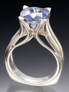 Another yummy Michael Alexander creation: Ring 687, inspired by flora  18k White Gold, Iolite