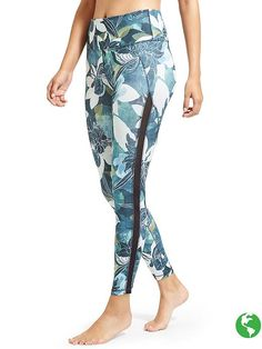 97459bf0619d0 Athleta High Rise Tropical Mesh Chaturanga™ 7/8 Tight Athletic Fashion,  Athletic Wear