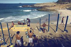 Awesome outdoor gym! #brazil #arpoador #beach