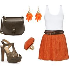 """Orange"" by nickirock on Polyvore"