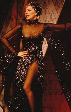 Barbra Streisand in Funny Lady, gown by Bob Mackie...one of may all time favourite performers