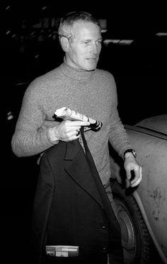 Paul Newman à New York, 1975.