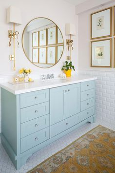 Maria's Timeless White Master Ensuite Reveal; Before & After, - Maria's Timeless White Master Ensuite Reveal; Before & After, Maria's Timeless White Master Ensuite Reveal; Before & After, Bathroom Artwork, Gold Bathroom, Mirror Bathroom, Remodel Bathroom, Bathroom Fixtures, Bathroom Renovations, Bathroom Cabinets, Bathroom Yellow, Neutral Bathroom