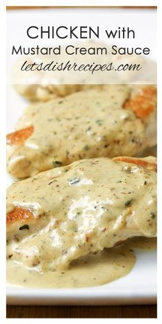 Chicken with Mustard Cream Sauce Recipe | This easy but elegant chicken dinner is ready in about 20 minutes!