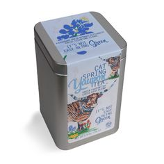 """Cat Spring Yaupon Tea :: new It's Not Easy Being Green blend with artwork by Dolan Geiman """"a fruity mixture of our green yaupon tea, lemongrass, and everything nice.  Folks compare it to a high quality green jasmine tea; however our blend comes without the astringent bite.  It's the perfect way to welcome Spring!"""""""