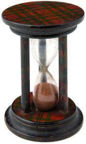 Tartanware hourglass, yes please!