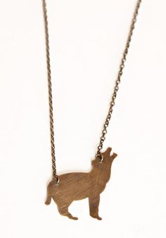 howling nights brass necklace