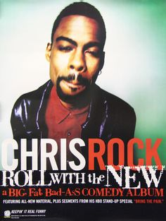 Chris Rock 1997 Roll With the New Original Promo Poster Comedy Album Link to store: http://stores.ebay.com/Rock-On-Collectibles/Rap-Hip-Hop-Posters-/_i.html?_fsub=10102107&_sid=70220124&_trksid=p4634.c0.m322