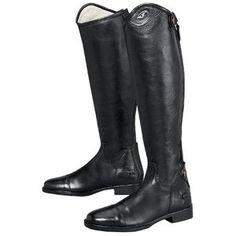 Look great in the TuffRider Belmont Dress Boot. This riding tall boot features the elegant spanish cut and soft and supple leather for a beautiful fit. Great for schooling or shows and at a great price!