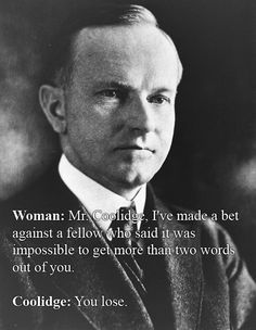 Calvin Coolidge Vs. Some Random Lady At A White House Dinner