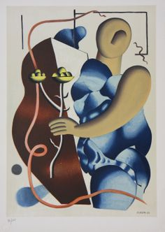 """Elegant Holiday Gifts: Fernand Leger original lithograph, """"Woman Holding a Flower""""."""