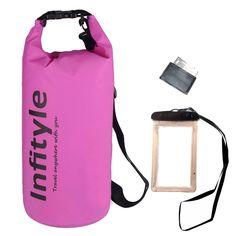 Dry Bag Set Pink Bag Waterproof Floating Bag Sports Equipment Fishing Kayaking  #Infityle