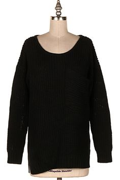 ROUND NECK SWEATER PULLOVER.   #15A-157021