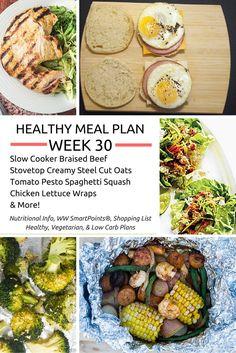 Healthy Meal Plans Week 30 - Slender Kitchen