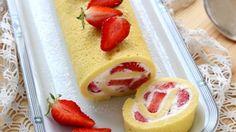 Gâteau léger roulé à la fraise sur Orange Tendances