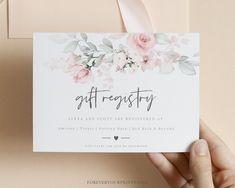 Wedding Registry Card Template Gift Registry Card Minimalist   Etsy