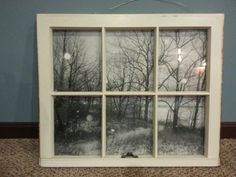 A finished window scene. This is my favorite size to work with!