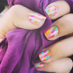 Jamberry nail wraps in happy-go-lucky