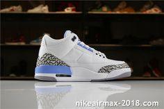 c870f85d707 Air Jordan 3 Retro UNC PE 820078 Mens Sneakers White Blue Gray Air Jordan 3,