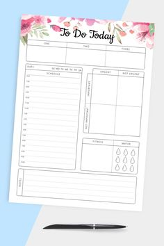 Best Daily Planner, Daily Agenda, Daily Planner Printable, Best Planners, Daily Schedule Template, List Template, Planner Template, Time Planner, Todo List
