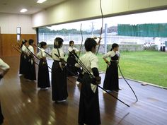 Example of a large archery dojo