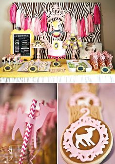 Pink & Yellow Woodland Birthday Party