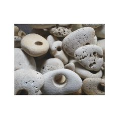 Stones with holes canvas Picture